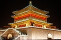 Bell tower night scenes xian xian built in ming dynasty xian china Royalty Free Stock Images