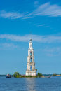 The bell tower of nikolsky cathedral flooded belltower st nicholas in kalyazin Stock Images