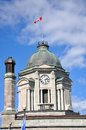 Bell tower of old quebec city post office in upper city haute ville quebec canada Stock Images