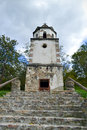Bell tower old in a very small orthodox monastery Royalty Free Stock Image