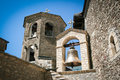 Bell tower of orthodox monastery christian in macedonia Royalty Free Stock Photography