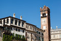 Bell Tower on Piazza delle Erbe in Verona Stock Photography