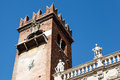 Bell Tower on Piazza delle Erbe in Verona Royalty Free Stock Photos