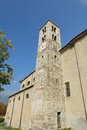 Bell tower romanesque of san giorio xi century Royalty Free Stock Photos