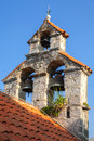 Bell tower of the serbian orthodox church monastery gradiste montenegro Stock Photography