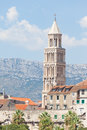 Bell tower of St. Duje in Split Royalty Free Stock Photos