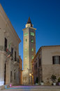 The bell tower of trani cathedral at twilight apu Royalty Free Stock Photography