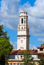 Bell Tower of Verona Cathedral - Italy Royalty Free Stock Photo
