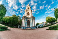 Bell tower wideview of naval cathedral of st nicholas nikolo bogoyavlensky sobor st petersburg russia Royalty Free Stock Photography