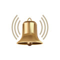 Bell with volume sign isolated on white background Royalty Free Stock Image