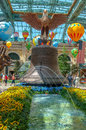 Bellagio conservatory and botanical gardens interior statue in hotel in las vegas usa photo taken in Royalty Free Stock Images