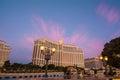 Bellagio hotel amanecer las vegas blvd al Royalty Free Stock Photography