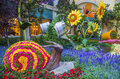 Bellagio hotel conservatory botanical gardens las vegas june summer season in on june in las vegas there are five seasonal themes Royalty Free Stock Photography