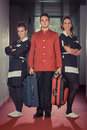 Bellboy and Chambermaids Royalty Free Stock Images