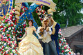 Belle and the beast from the festival of fantasy parade orlando may at magic kingdom walt disney world picture taken th may Royalty Free Stock Photos