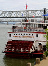Belle of louisville docked on ohio river at kentucky september Royalty Free Stock Image