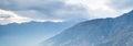 Belle montagne snow capped Fotografia Stock Libera da Diritti