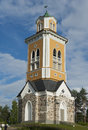 Bellfry of kerimaki church the biggest wooden church in northern europe Royalty Free Stock Photos