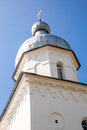 Bellfry of st george s monastery in veliky novgorod russia Royalty Free Stock Images