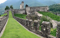 Bellinzona's castles Royalty Free Stock Photos