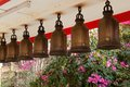 Bells at big buddha hill temple pattaya buddhistic thailand Royalty Free Stock Image