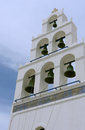 Bells in greek ortodox church oia town on santorini island Royalty Free Stock Photo