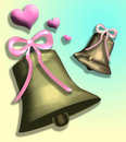 Bells with Hearts Stock Photography