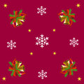 Bells and snowflakes christmas red background with Royalty Free Stock Photo