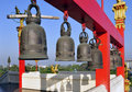Bells at a Thai temple Royalty Free Stock Image