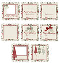 Bells & Trees Christmas Gift Tags Royalty Free Stock Photo