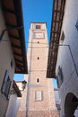 Belltower of the duomo of San Daniele Stock Photo