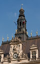 Belltower of hotel de ville paris france Royalty Free Stock Images