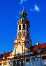 Belltower of loreta a bell tower the church lord s birth from monastery in hradcany prague Stock Images