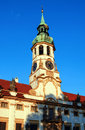 Belltower of loreta a bell tower the church lord s birth from monastery in hradcany prague Royalty Free Stock Photo