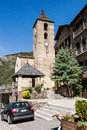 Belltower in ordino andorra june of the th century romanesque sant corneli and sant cebria church the most northerly parish the Stock Photo