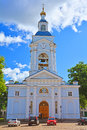 Belltower of Spaso-Transfiguration Cathedral in Vyborg, Russia