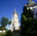 Belltower of St. Sophia cathedral. Kyiv, Ukraine. Royalty Free Stock Photo