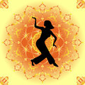 Belly dance young girl dansing Royalty Free Stock Photo