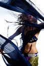 Belly dancer in costume Royalty Free Stock Photo