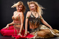 Belly dancers. Royalty Free Stock Image