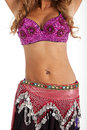 Bellydancer belly of shot on white background Royalty Free Stock Photos