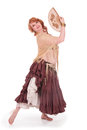 Bellydancer with fan Stock Photo
