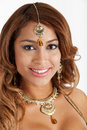 Bellydancer headshot pretty shot on white background Royalty Free Stock Image