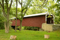 Belmont road covered bridge an image of the shot in intercourse pa september Stock Image