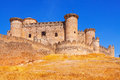 Belmonte castle in cuenca spain Royalty Free Stock Photography
