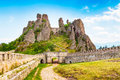 Belogradchik Kaleto, ancient fortress, tourist attraction Royalty Free Stock Photo