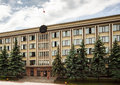 Belorussia government building classic example of soviet union architecture gorevnment in gomel town Stock Photography