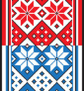 Belorussian ethnic ornament seamless pattern vector illustration from collection of balto slavic ornaments Royalty Free Stock Photo
