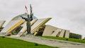 Belorussian museum of the great patriotic war in monument near building minsk belarus Stock Image