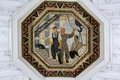 Belorusskaya metro station mosiac moscow russia mosaic in the ceiling of this is one of a series of mosaics in the and depicts Stock Images